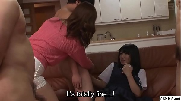 Japanese party, Japanese group, Schoolgirl, Japanese mother, Subtitled, Japanese handjob
