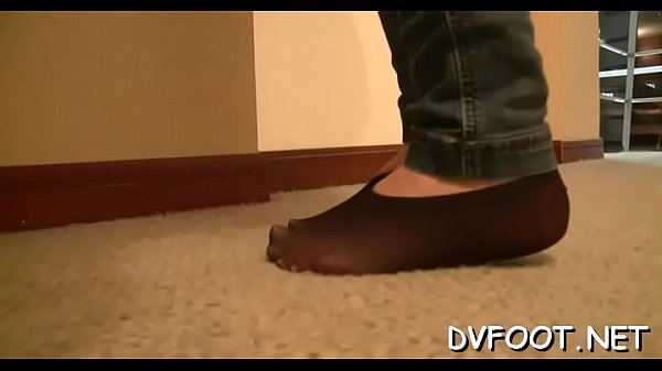 Feet, Foot worship, Tights, Foot job