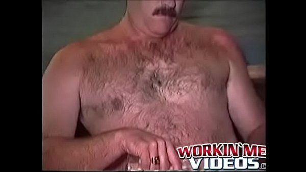 Mature solo, Hairy man
