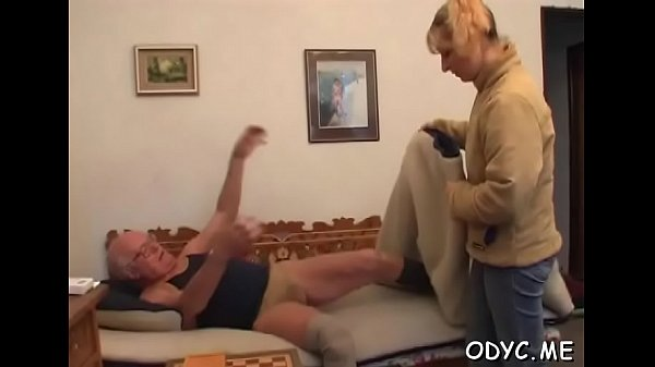 Old young fuck, Old tits